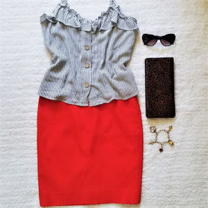 """J.Crew """"The Pencil Skirt"""" in Orange,  Size 2 - NWT"""